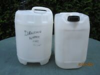 2 Plastic Water Carriers. Ideal for Camping. Used for Drinking Water Only