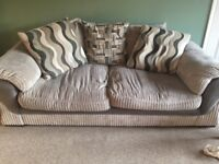 Pair of grey cushion-back sofas for FREE