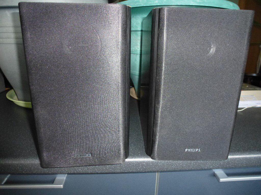 Pair of Philips bookshelf Speakers