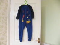 Boys Age 2-3 Years Fleece Sleepsuit
