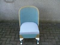 LLOYD LOOM STYLE? BLUE / GOLD CHAIR WITH UNDER SEAT STORAGE.