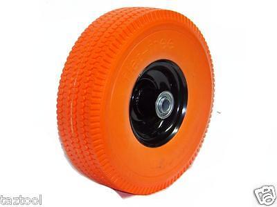 """(4) 10.5"""" flat-free Tire Hand truck Dolly Wagon flat free Foamed Polyurethane PU"""