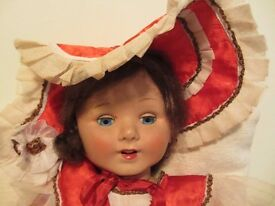 32 INCH TALL VINTAGE (1950s) WALKING/ TALKING (MAMA VOICEBOX) DOLL COLLECTABLE