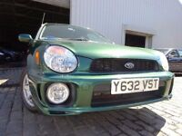 01 SUBARU IMPREZA 2.0 ESTATE,MOT JULY 017,2 KEYS,FULL SERVICE HISTORY,3 OWNERS ,LOVELY EXAMPLE