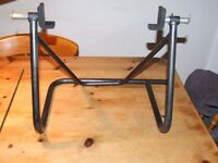 Fully adjustable rear wheel motorcycle paddock stand.