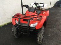 2013 HONDA 420 QUAD 4WD 2WD ONLY 368HRS AS NEW CONDITION