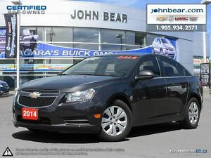 2014 Chevrolet Cruze 1LT 0.9 % FINANCING, OR NO PAYMENTS & NO IN