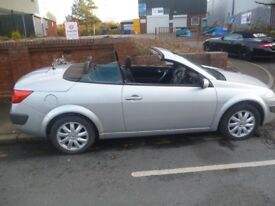 Renault Megane Dynamique,1598 cc hard top Convertible,clean tidy car,runs and drives well,only 58k