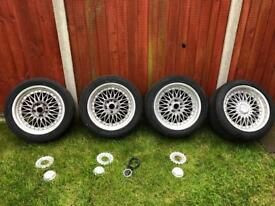 """Rare JDM - 17"""" Staggered Split Rims - Contra by Riverside"""