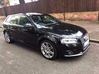 Audi A3 1.6 TDI S LINE Black 5dr Sportback Sport / Hatchback Diesel FSH START / STOP £20 Road Tax