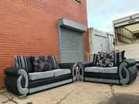 Sold Grey & Black sofas 3&2 delivery 🚚 sofa suite couch furniture