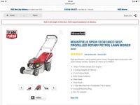 Mountfield self propelled lawnmower, as new