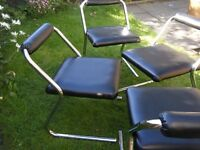 Set of 4 retro 1970s dining /kitchen chairs.