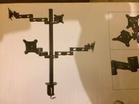 "AV:LINK Quad monitor desk mount for 13"" to 27"" led/lcd DM200-4"