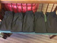 5 x Black School Trousers ( 11 yrs old)
