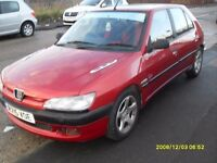 Peugeot 306..1.6cc..5 doors..Maroon..Long Mot. june 17