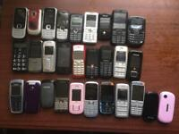 MIXED JOB LOT OFF VARIOUS MOBILE PHONES FOR £5 EACH A REAL BARGAIN LOOK!!!