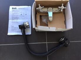 B&Q Treviso Bath Tap / Filler / Faucet and Pop-up Waste