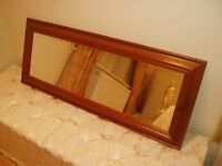MIRROR - ANTIQUE PINE FRAME - COUNTRY / RUSTIC