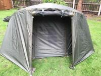 Large 1man bivvy with winter skin overwrap