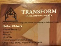 Transform Home Improvements offers a full free quote service and a discount for the over 65's