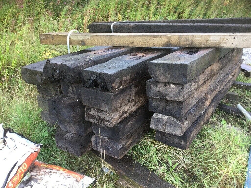 LARGE SELECTION OF RAILWAY SLEEPERS £15 EACH. Great for loads of things.