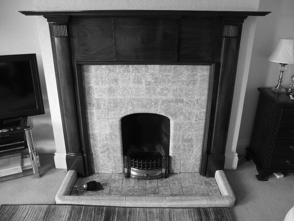 1928 mahogany fireplace surround in newtownards county down