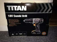 Brand New Titan 18V Combi Drill + 2 batteries
