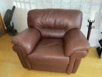 Single large leather seat