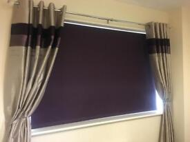 Purple Dunelm Roller Blinds