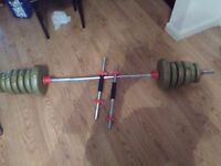 York dumbbells and weights