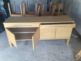 Ikea wood storage / sideboard for lounge or dinning room