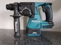 MAKITA DHR242 18v LXT LI-ION BRUSHLESS SDS DRILL 3 mode.(BODY ONLY).