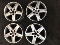 "Genuine Audi 17"" Alloy Wheels."