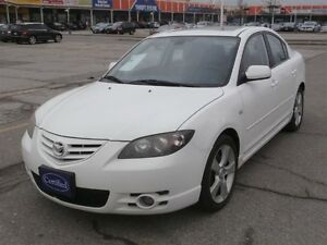 2004 Mazda 3 Sunroof Leather!!!! 4dr Sdn GT Manual, AS-IS