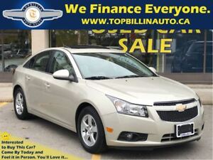2014 Chevrolet Cruze 2LT LEATHER, SUNROOF, Only 67K kms
