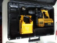 DeWalt 36 volt DCH364M2 / Charge Rotary Hammer Drill used lith ion batt