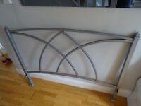 Iron bed frame, double, contemporary design, good condition