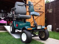HUGE ALL TERRAIN GOLF CART / MOBILITY SCOOTER -NEW BATTERIES TODAY - HUGE TRACTOR WHEELS - ALARM