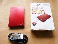 Seagate Backup Plus Slim 2TB USB 3.0 External Hard Drive