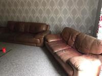 2 and 3 seater genuine leather sofas