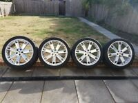 """Overfinch Style 22"""" wheels for L322 Range Rover Sport."""