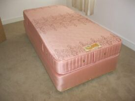 'SLUMBERLAND' MATCHING MATTRESS & SINGLE BED. IN GOOD ORDER & COMFORTABLE. VIEW/DELIVERY AVAILABLE