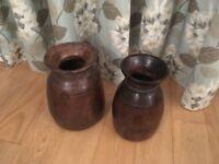 Pair of Wooden Pots