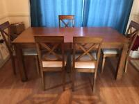 Dining table and 5 chairs **** £100 today***