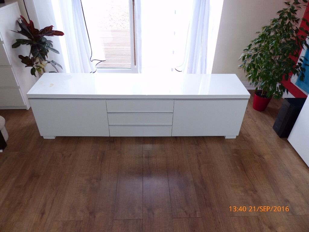 Ikea Tv Unit BEST197 BURS TV bench high gloss white in  : 86 from www.gumtree.com size 1024 x 768 jpeg 78kB