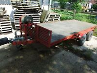 twin axle plant trailer 14ft flat bed