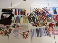 Art materials, colour pencils, felt tips, battery operated drawing toy, scissors, lots more, see ad