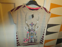 GIRLS (BRAND NEW WITH TAGS) TOPS - AGE 7-8 & 8-9 - FROM GEORGE
