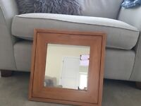 """Square Mirror - Marks and Spencer's 18"""" x 18"""" Cherry Stained Wood"""
